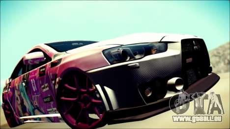 Mitsubishi Lancer Evolution Miku X Luka Itasha pour GTA San Andreas vue arrière