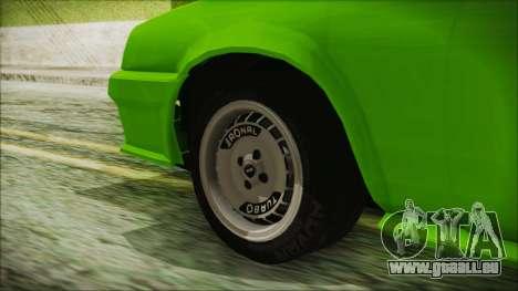 Opel Manta New Kids HQ pour GTA San Andreas sur la vue arrière gauche