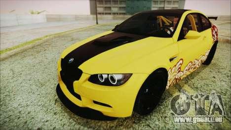BMW M3 GTS 2011 IVF für GTA San Andreas Motor