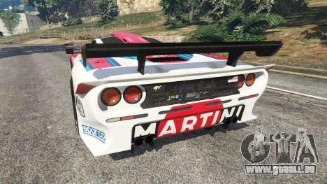 GTA 5 McLaren F1 GTR Longtail [Martini Racing] arrière vue latérale gauche