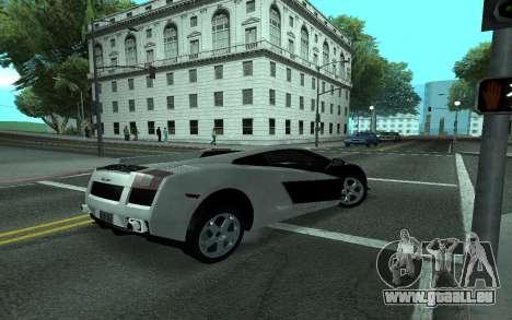Lamborghini Gallardo Tunable für GTA San Andreas obere Ansicht