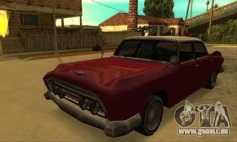 Oceanic Glendale 1961 pour GTA San Andreas vue intérieure