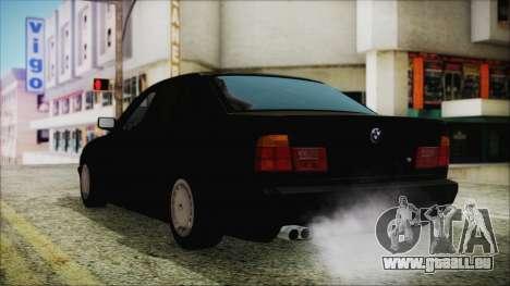 BMW 525i E34 1992 pour GTA San Andreas laissé vue