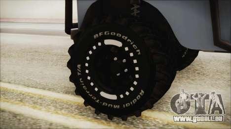 Land Rover Series 3 Off-Road für GTA San Andreas zurück linke Ansicht