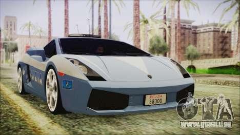 Lamborghini Gallardo 2004 Italian Polizia für GTA San Andreas