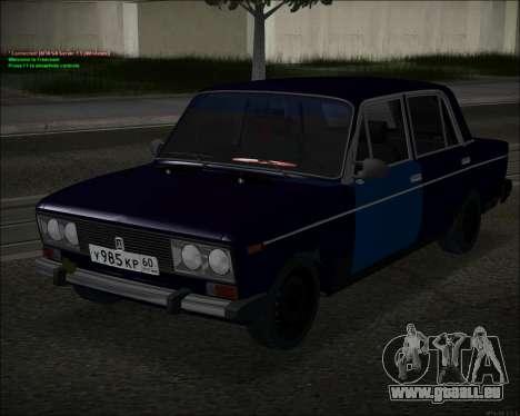 VAZ 2106 GVR pour GTA San Andreas laissé vue