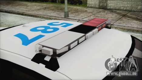 Dodge Charger SRT8 2012 Iraqi Police pour GTA San Andreas vue arrière