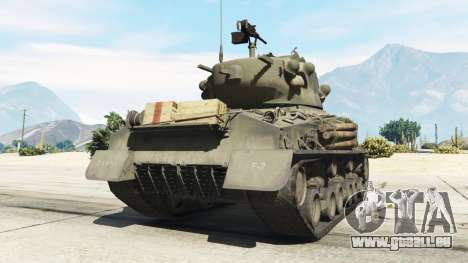 GTA 5 M4A3E8 Sherman Fury hinten links Seitenansicht