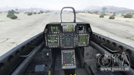 GTA 5 Lockheed Martin F-22 Raptor cinquième capture d'écran