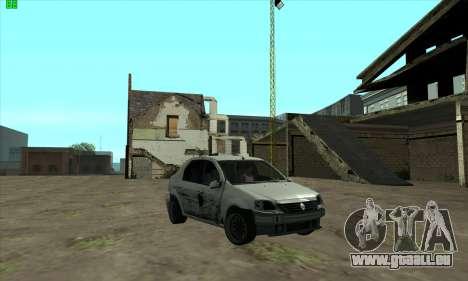 Renault Logan für GTA San Andreas Rückansicht