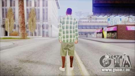 GTA 5 Grove Gang Member 2 für GTA San Andreas dritten Screenshot