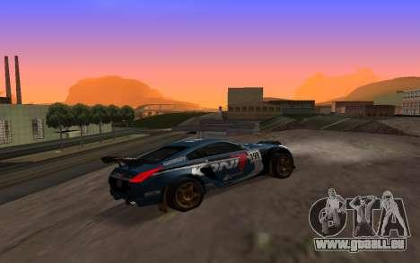 Nissan 350Z Rally pour GTA San Andreas vue intérieure