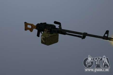 Die Kalaschnikow-Maschinengewehr für GTA San Andreas dritten Screenshot