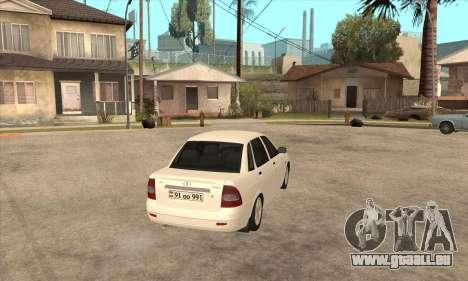Lada Priora Armenian pour GTA San Andreas vue de droite