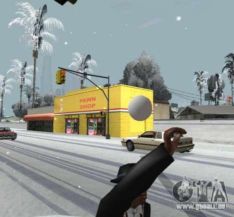 Jeter de la neige pour GTA San Andreas troisième écran