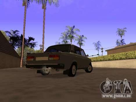 Principauté VAZ 2107 San v0.3 pour GTA San Andreas laissé vue
