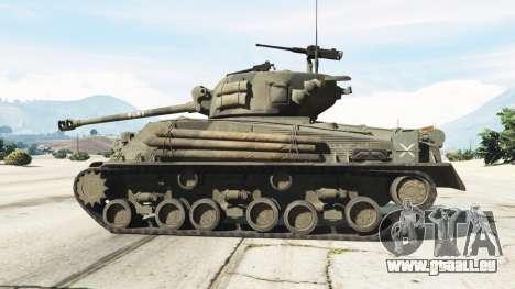 GTA 5 M4A3E8 Sherman Fury linke Seitenansicht