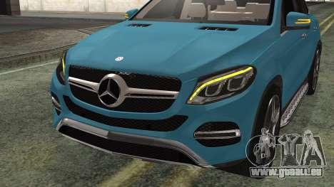 Mercedes-Benz GLE 450 AMG 2015 pour GTA San Andreas vue arrière