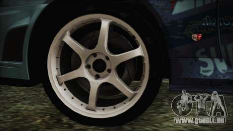 Nissan Skyline R34 Itasha für GTA San Andreas zurück linke Ansicht