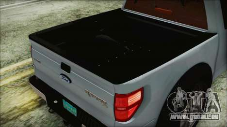 Ford F-150 SVT Raptor 2012 Stock Version für GTA San Andreas Innenansicht