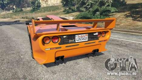 GTA 5 McLaren F1 GTR Longtail hinten links Seitenansicht