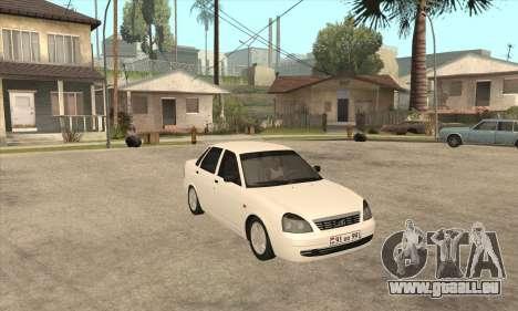 Lada Priora Armenian pour GTA San Andreas laissé vue