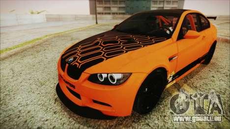 BMW M3 GTS 2011 IVF für GTA San Andreas Innen