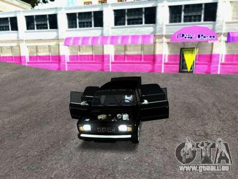 VAZ 2107-107 pour GTA San Andreas vue arrière