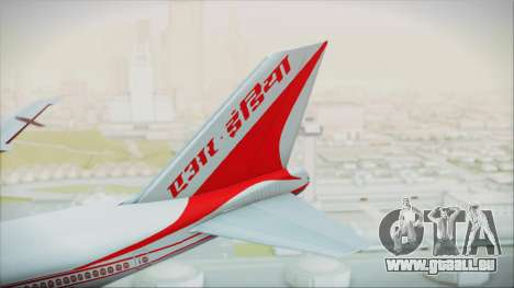 Boeing 747-237Bs Air India Krishna Deva Raya pour GTA San Andreas sur la vue arrière gauche