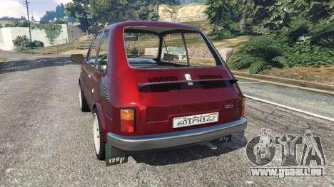 GTA 5 Fiat 126p v1.2 arrière vue latérale gauche