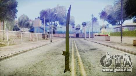 Grass Sword from Adventure Time für GTA San Andreas zweiten Screenshot