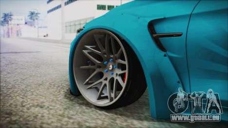 BMW M4 2014 Liberty Walk für GTA San Andreas zurück linke Ansicht