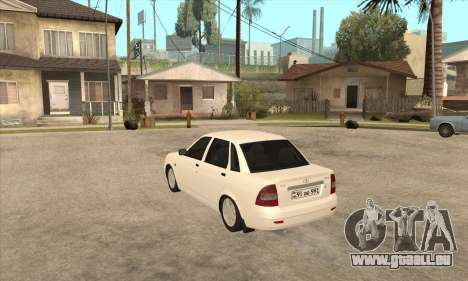 Lada Priora Armenian pour GTA San Andreas sur la vue arrière gauche