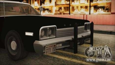 Dodge Monaco 1974 LSPD IVF für GTA San Andreas obere Ansicht