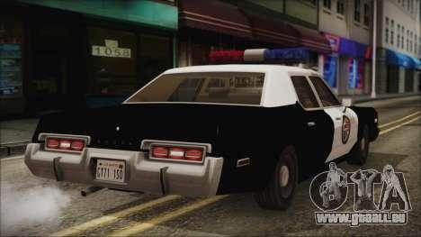 Dodge Monaco 1974 LSPD IVF pour GTA San Andreas laissé vue