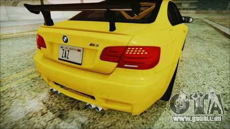 BMW M3 GTS 2011 IVF pour GTA San Andreas vue de côté