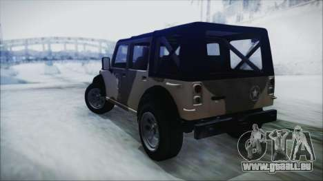 GTA 5 Canis Crusader IVF pour GTA San Andreas laissé vue