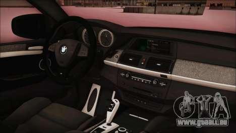 BMW X6 Georgia Police für GTA San Andreas rechten Ansicht