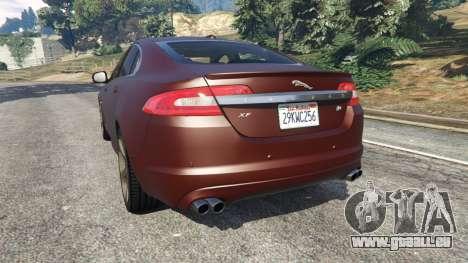 GTA 5 Jaguar XFR 2010 arrière vue latérale gauche