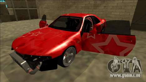 Nissan Skyline R33 Drift Red Star pour GTA San Andreas moteur