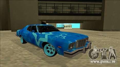 Ford Gran Torino Drift Blue Star für GTA San Andreas rechten Ansicht