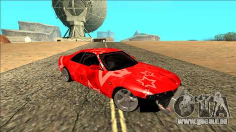 Nissan Skyline R33 Drift Red Star für GTA San Andreas Innenansicht
