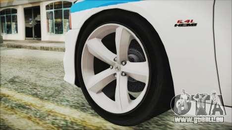 Dodge Charger SRT8 2012 Iraqi Police für GTA San Andreas zurück linke Ansicht