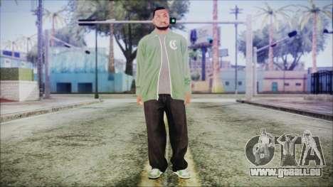 GTA 5 Grove Gang Member 1 pour GTA San Andreas deuxième écran
