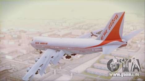 Boeing 747-237Bs Air India Akbar für GTA San Andreas linke Ansicht
