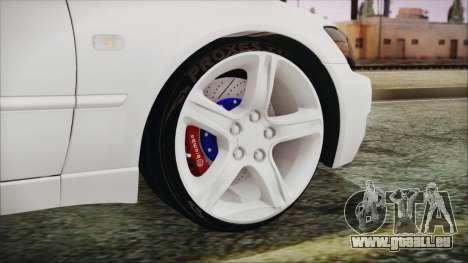 Toyota Altezza 2004 Full Tunable HQ pour GTA San Andreas sur la vue arrière gauche