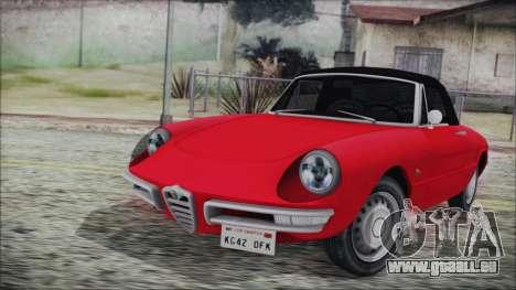 Alfa Romeo Spider Duetto 1966 für GTA San Andreas