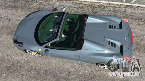 GTA 5 Ferrari 458 Spider 2012 vue arrière