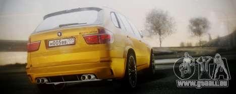 BMW X5M SMOTRA.GT pour GTA San Andreas laissé vue