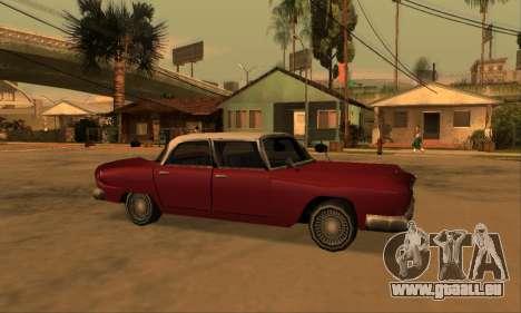 Oceanic Glendale 1961 pour GTA San Andreas vue de dessus